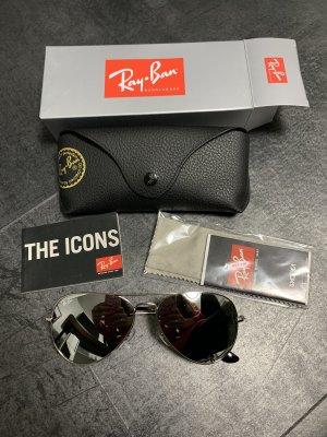 Ray ban aviator Silberne Spiegelbrille