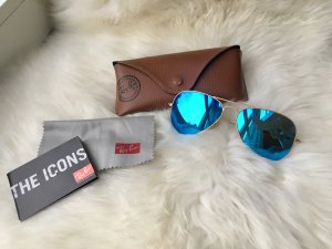 Ray Ban Aviator Sonnenbrille Blue Mirror