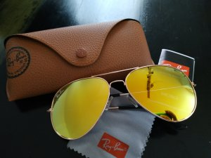 Ray Ban Aviator Glasses silver-colored-yellow