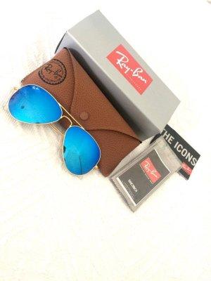 Ray-Ban Aviator Sonnenbrille Pilotenbrille blau verspiegelt