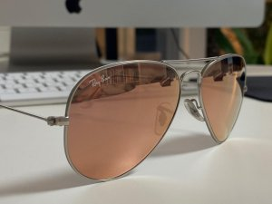 Ray Ban Aviator Glasses rose-gold-coloured