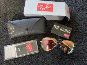 Ray ban aviator Sonnenbrille rosa verspiegelt