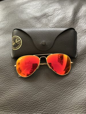 Ray Ban Aviator Sonnenbrille rot
