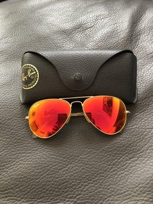 Ray Ban Gafas de piloto rojo-color oro