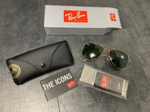 Ray ban aviator Sonnenbrille schwarz Gold