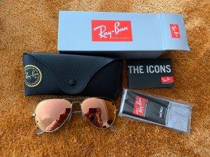Ray ban aviator Sonnenbrille verspiegelt rosa