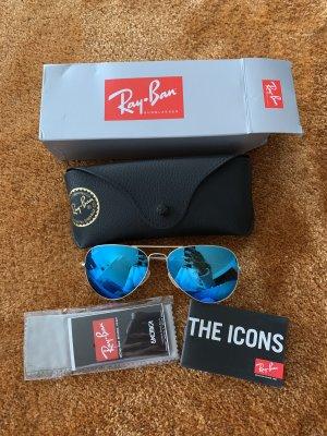 Ray ban aviator Spiegelbrille blau