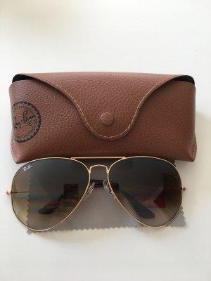 Ray Ban Aviator Glasses bronze-colored