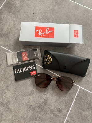 Ray Ban Butterfly Glasses brown-gold-colored