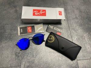 Ray Ban Lunettes de soleil rondes noir-bleu