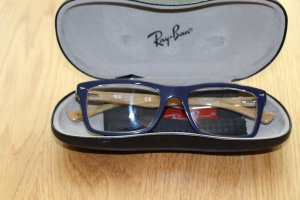 Ray Ban Glasses beige-dark blue synthetic material
