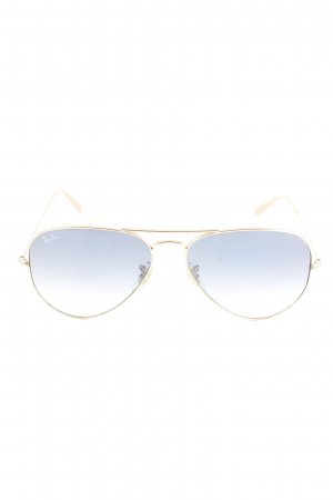 Ray Ban Gafas azul-color oro look casual