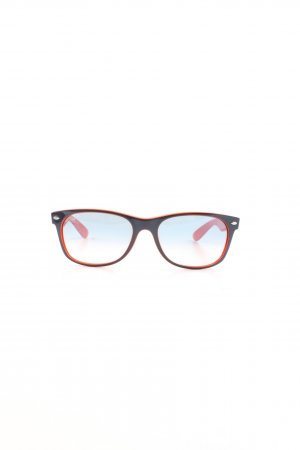 Ray Ban Glasses black-light orange casual look