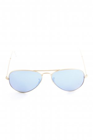 Ray Ban Glasses gold-colored-blue color gradient beach look