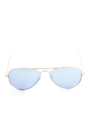Ray Ban Brille goldfarben-blau Farbverlauf Beach-Look