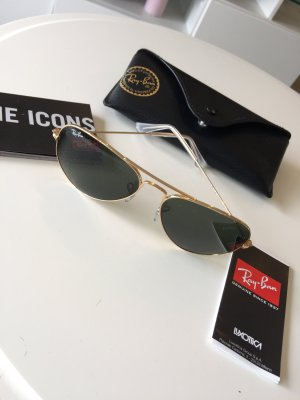 Ray Ban Brille schwary Gold