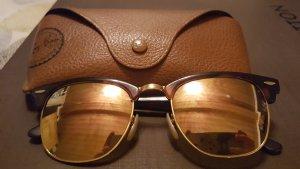 Ray Ban Clubmaster RB3016 Havannabraun/gold mit rosegoldene Gläser verspiegelt