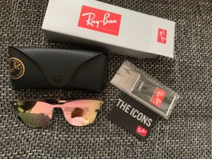 Ray ban clubmaster Spiegelbrille rosa