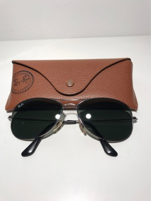 Ray Ban Aviator Glasses silver-colored-green grey