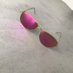 Ray Ban Aviator Glasses pink-gold-colored