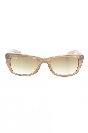 Ray Ban Angular Shaped Sunglasses brown casual look