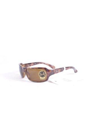 Ray Ban eckige Sonnenbrille braun Farbverlauf schlichter Stil