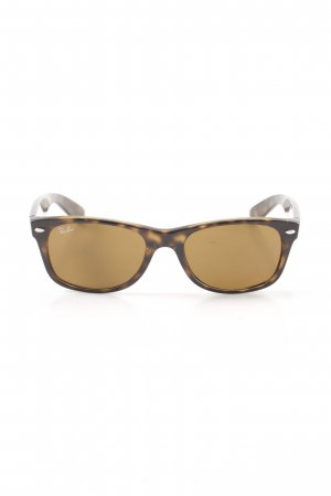 Ray Ban eckige Sonnenbrille braun-goldfarben Leomuster Casual-Look