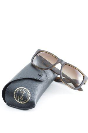 Ray Ban Hoekige zonnebril bruin-grijs-bruin casual uitstraling