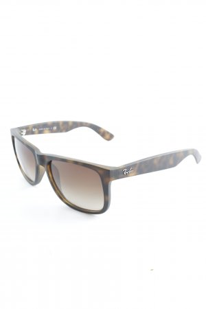 Ray Ban eckige Sonnenbrille braun-graubraun Casual-Look