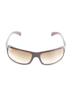Ray Ban eckige Sonnenbrille braun Retro-Look