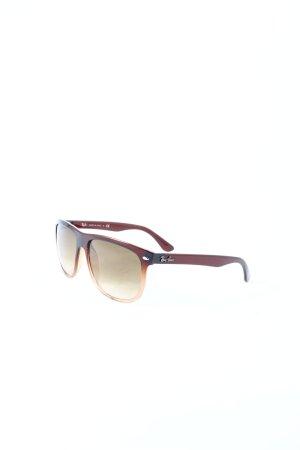 Ray Ban Hoekige zonnebril roodbruin klassieke stijl