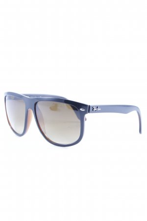 Ray Ban eckige Sonnenbrille dunkelbraun Casual-Look