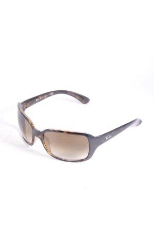 Ray Ban eckige Sonnenbrille dunkelbraun-hellbraun Farbverlauf schlichter Stil