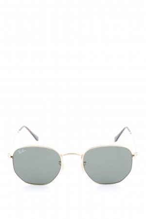 Ray Ban eckige Sonnenbrille goldfarben-schwarz Casual-Look