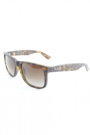 Ray Ban eckige Sonnenbrille graubraun-braun Casual-Look