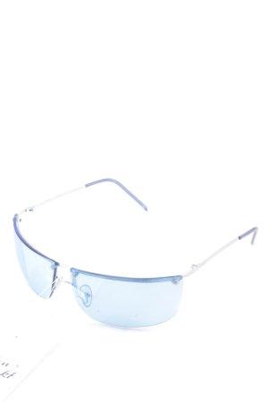 Ray Ban eckige Sonnenbrille hellblau-silberfarben klassischer Stil