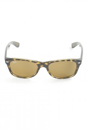 Ray Ban Angular Shaped Sunglasses black-cream animal pattern casual look