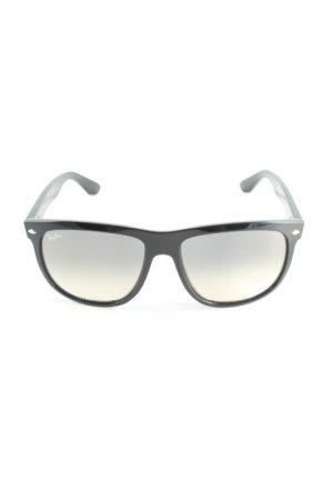 Ray Ban eckige Sonnenbrille schwarz Elegant