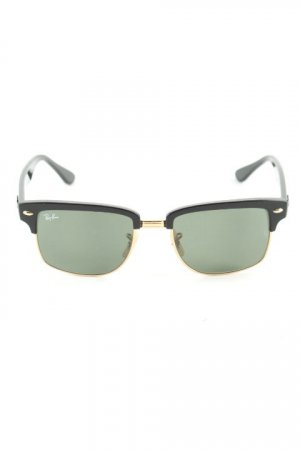 Ray Ban eckige Sonnenbrille schwarz-goldfarben Elegant