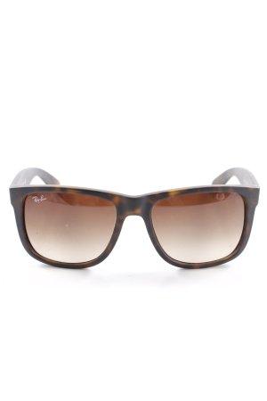 Ray Ban eckige Sonnenbrille schwarz-graubraun Casual-Look