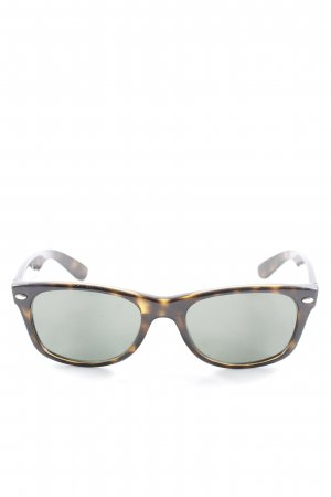 Ray Ban eckige Sonnenbrille schwarz-hellbraun abstraktes Muster Casual-Look