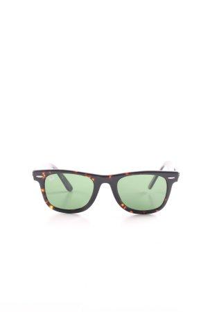 Ray Ban eckige Sonnenbrille schwarz-hellorange Farbverlauf Casual-Look