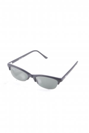 Ray Ban eckige Sonnenbrille schwarz klassischer Stil