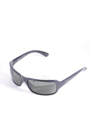 Ray Ban eckige Sonnenbrille schwarz schlichter Stil