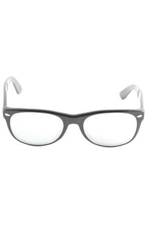 Ray Ban eckige Sonnenbrille schwarz-silberfarben Metallic-Optik
