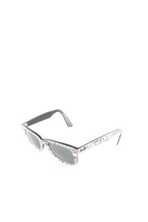 Ray Ban eckige Sonnenbrille schwarz-weiß Comicmuster Street-Fashion-Look