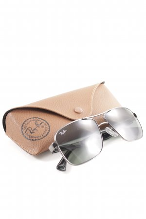 Ray Ban Angular Shaped Sunglasses silver-colored casual look
