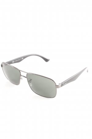 Ray Ban eckige Sonnenbrille silberfarben Casual-Look