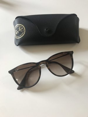 Ray Ban Oval Sunglasses dark brown-dark grey