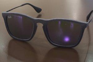"""Ray Ban  Model 4187 Chris """"Samt"""" grau mit lila verspiegelten Gläsern"""